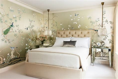 chinoiserie schlafzimmer painted wallpaper chinoiserie wallpaper silk