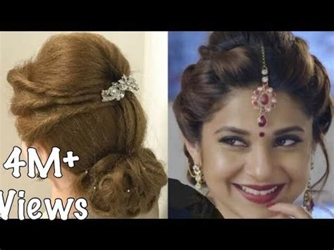 Easy Beautiful Hairstyles by 2 Beautiful Hairstyles With Puff Easy Wedding Hairstyles