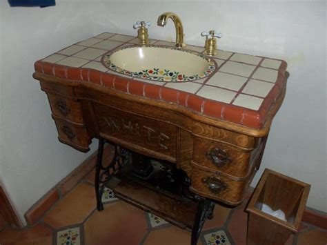 repurposed antique sewing machine leaving our trail 10 ideas for repurposing old sewing machines