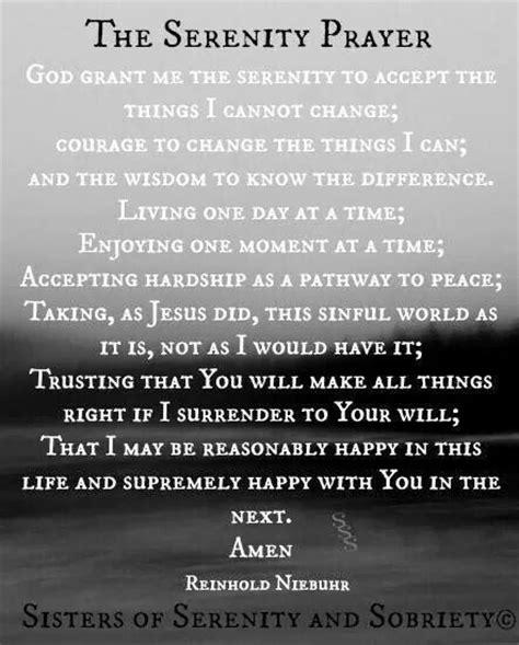 full version of serenity prayer serenity prayer full version chapel for the soul pinterest