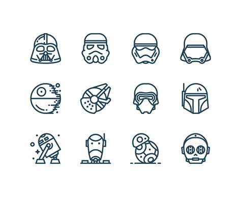 simple star wars tattoos free wars icons iconstore