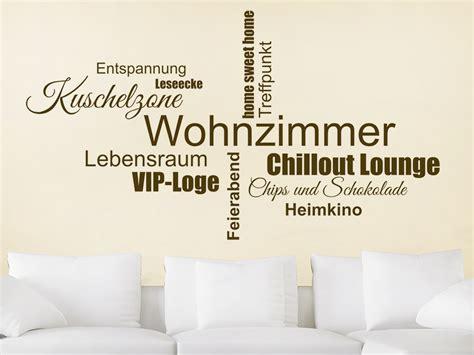 Wandtattoo Wohnzimmer by Wandtattoo Wohnzimmer Wortwolke Wandtattoo De