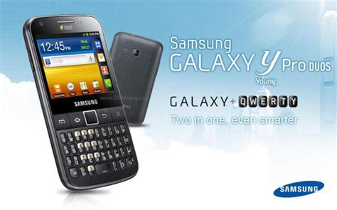 samsung galaxy y pro duos is believed to be a dual sim offering