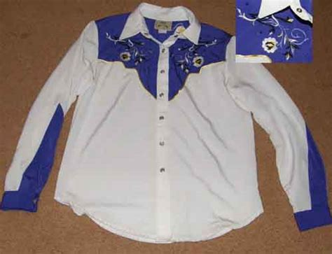 Wst 19184 Blue Stripe Embroidered Sleeve Blouse western shirts vests page 11