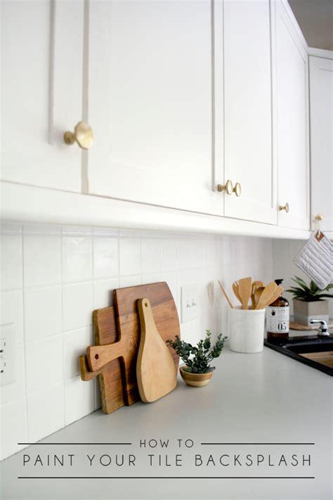 paint kitchen tiles backsplash how to paint your tile backsplash brepurposed
