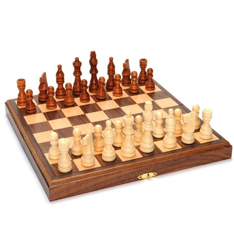 chess set travel magnetic folding walnut wood chess set wood