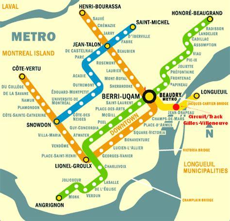 montreal metro map montreal subway map