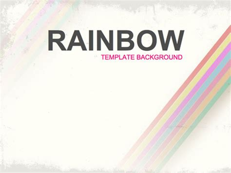 Rainbow Background Design Powerpoint Rainbow Template