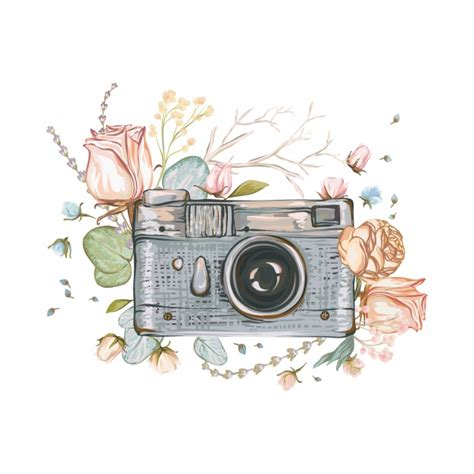 camera sketch wallpaper hand painted camera background vector premium download