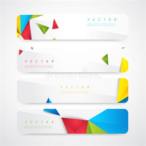 header graphic design definition flyer template header design stock vector illustration