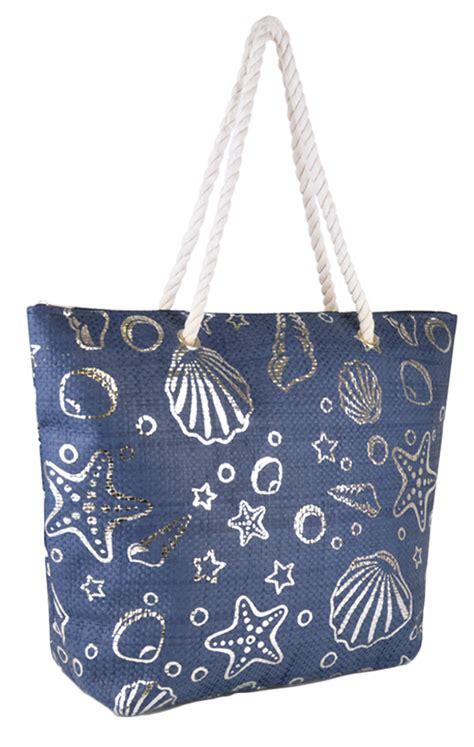 Gustto Estiva Metallic Shopper by Womens Shoulder Bag Large Summer Tote Shopping