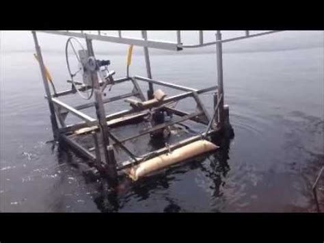 boat lift tubes floating a boat lift down the shore moving it the easy