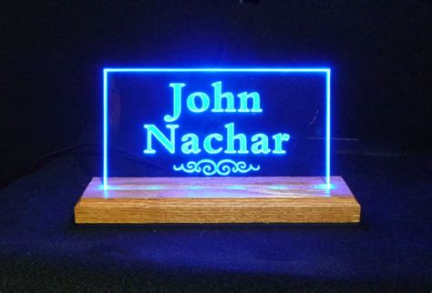 unique desk name plates usb led name plates desk signs nameplates plaques