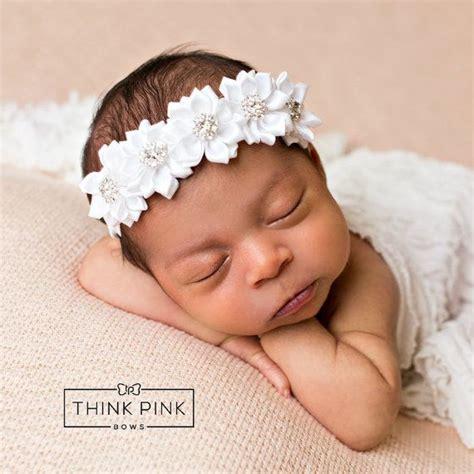 white headbandpink baby headbandchristening by thinkpinkbows the 25 best christening headband ideas on