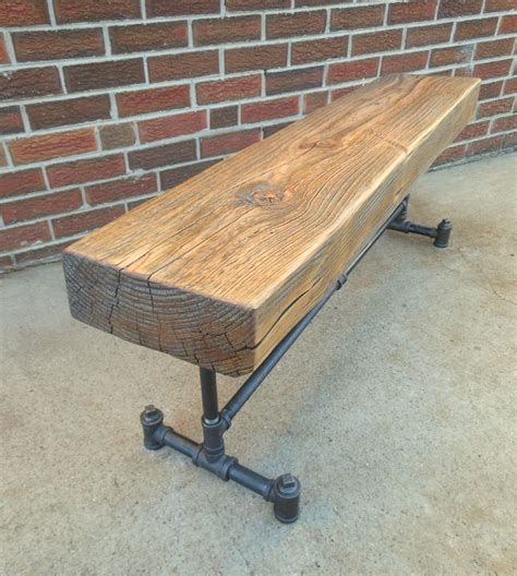 pipe bench gas pipe bench reclaimed beam theodenver 2015