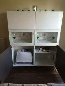 Under Kitchen Cabinet Storage Ideas A Hidden Litter Tray In A Best 197 Unit Ikea Hackers Ikea