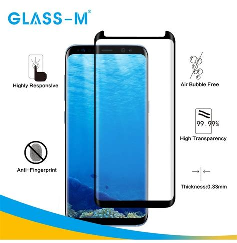 Tempered Glass 3d Samsung S8 glass m 3d curved tempered glass screen protector for