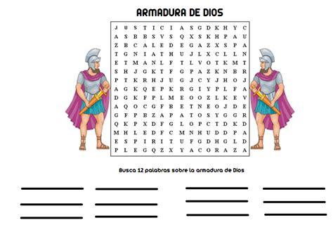 sopa de letras de la armadura de dios ministerio infantil cielos abiertos yopal sopa de letras