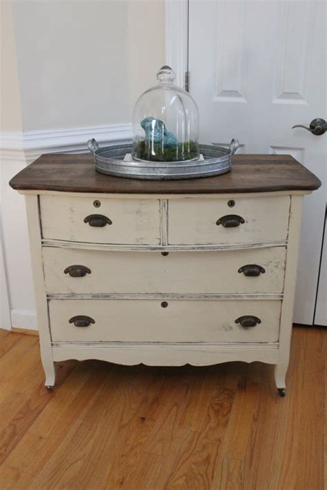 Kitchen Cabinets Painted With Chalk Paint Reserved For Betsy Vintage Dresser Chest Of Drawers