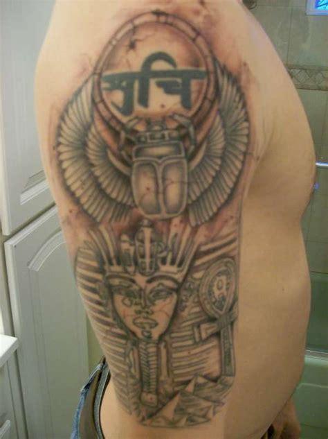egyptian quarter sleeve tattoo ancient egyptian half sleeve tattoo