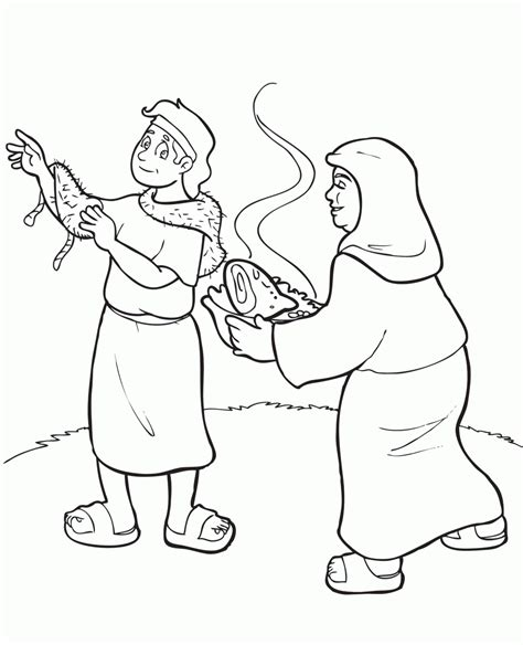jacob and esau coloring pages images free coloring pages jacob and esau coloring home