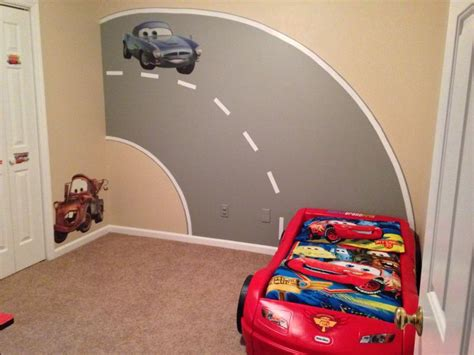 car bedroom my sons disney cars bedroom with road mural i painted