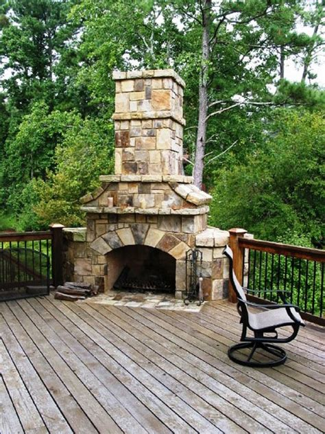 Outdoor Gas Fireplaces For Decks by Outdoor Fireplace On Deck Outdoor Furniture Design And Ideas