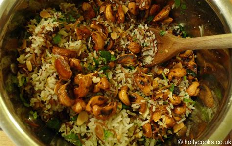 Main Dish Chicken Recipes - lebanese rice with spicy nuts and raisins recipe holly cooks