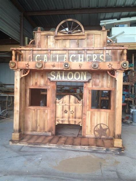 western saloon loft bed playhouse  tinytownstudios