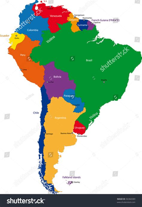 south america map capital cities colorful south america map with countries and capital