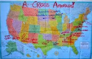 map for america a cross america map longboarding news and events
