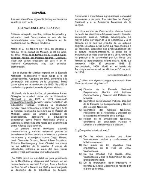 examenes de la olimpiada del conocimiento infantil 2016 sexto grado espanol olimpiada de conocimiento infantil 2014