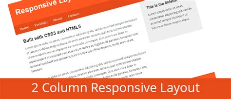 css tutorial little web hut create a 2 column responsive layout with html and css from
