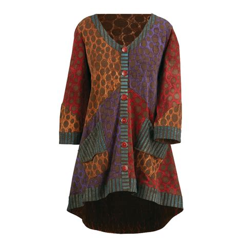 Ferista Stripes Tunic Blouse Size L dots and stripes button front tunic cardigan sweater ebay