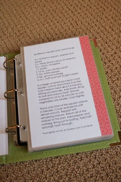 templates for recipe books recipe book template home organized pinterest