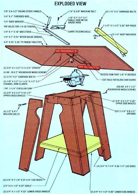 how to make a saw bench homemade tools how to make a table saw diy mother earth news