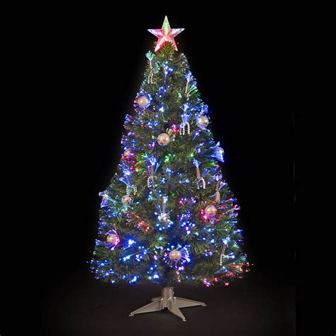 3ft silver grace fibre optic christmas tree ebay