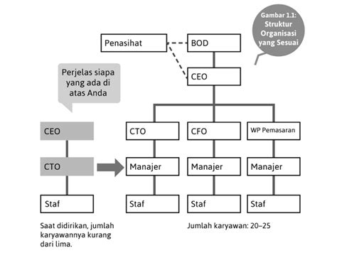 Desain Struktur Organisasi Yang Ideal | struktur ideal organisasi perusahaan startup startup borneo
