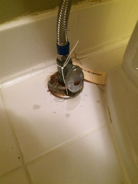 water valve under how to fix a leaky bathroom shut off valve