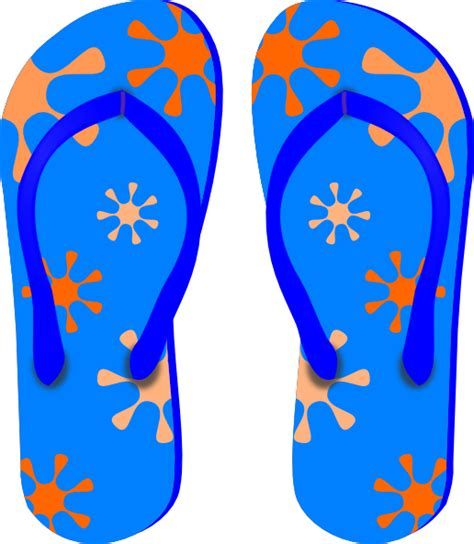 flip flops clip blue flip flops clip at clker vector clip