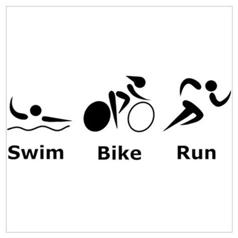 swim bike run our swim bike run poster