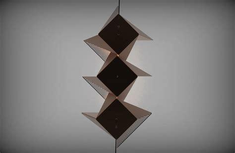 origami light fixture resch origami lighting series fubiz media