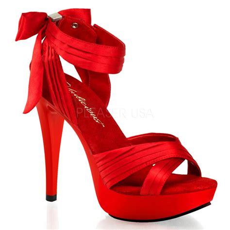 pleaser ctail568 rsa m shoes satin bow platform