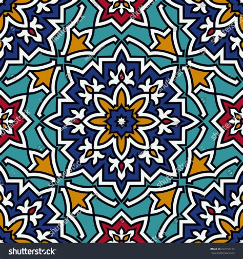 pattern tile illustrator oriental traditional ornament mediterranean seamless