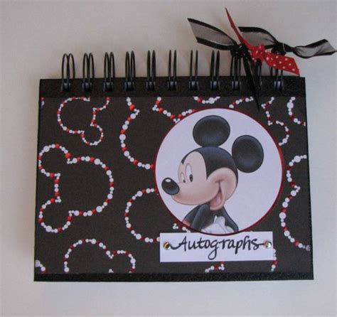 Handmade Disney Autograph Books - mickey autograph book 80 pages by ljsoriginals on etsy