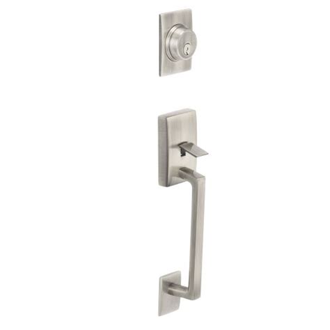 Schlage Exterior Door Hardware Best Buy Schlage F58 Cen 619 Century Exterior Handleset With Deadbolt Satin Nickel Free