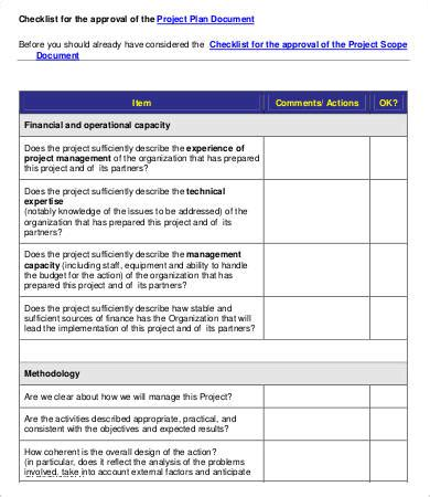 project evaluation checklist template project evaluation checklist template 7 free word pdf