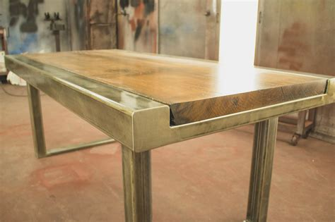 custom dining table beer city metal works construction
