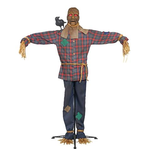 home accents holiday  ft standing scarecrow  led