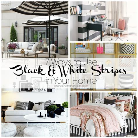 black and white striped home decor 7 unique ways to use black and white stripes in your home